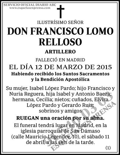 Francisco Lomo Relloso